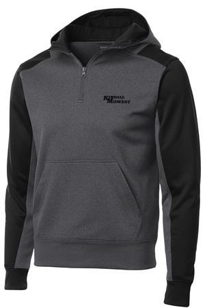 Men 39 s sport tek hooded fleece for Athletic cut flannel shirts
